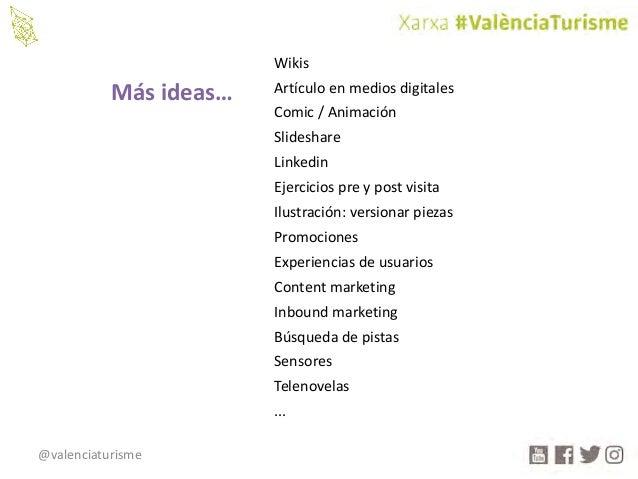 @valenciaturisme Wikis Artículoenmediosdigitales Comic/Animación Slideshare Linkedin Ejerciciospreypostvisita Ilu...