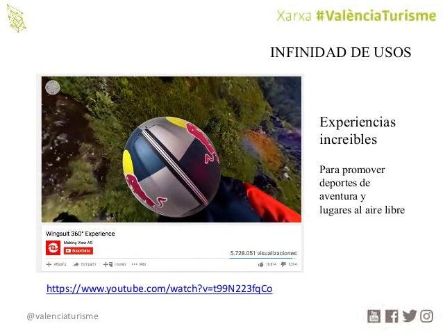 @valenciaturisme INFINIDAD DE USOS Experiencias increibles Para promover deportes de aventura y lugares al aire libre http...