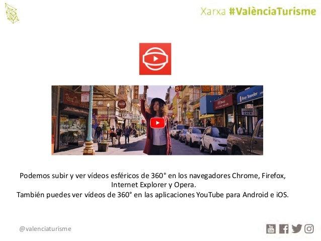 @valenciaturisme Podemossubiryvervídeosesféricosde360° enlosnavegadoresChrome,Firefox, InternetExploreryOper...