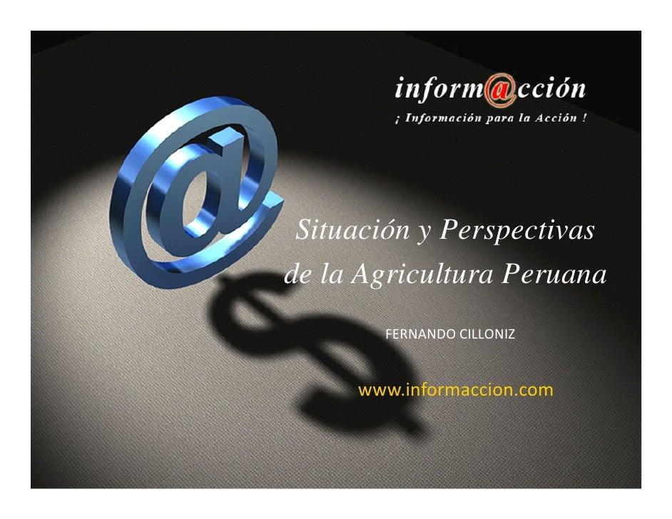 Situación y Perspectivasde la Agricultura Peruana       FERNANDOCILLONIZ     www.informaccion.com