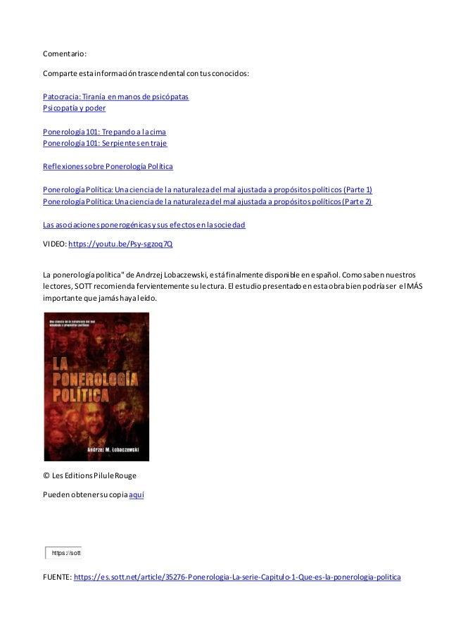 la ponerologa poltica spanish edition