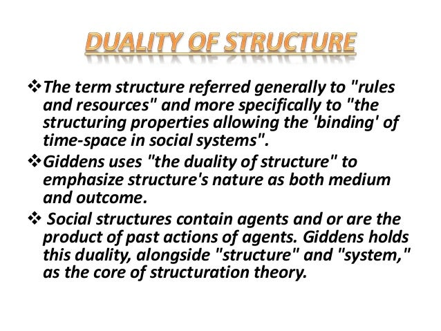 anthony giddens structuration theory