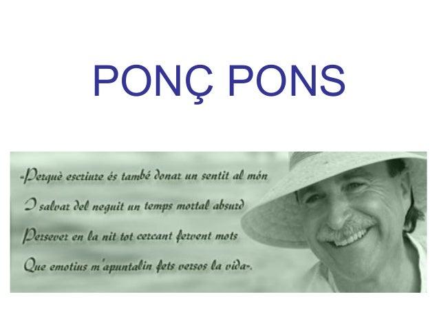 PONÇ PONS