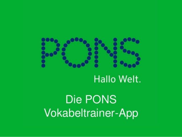 Die PONS Vokabeltrainer-App
