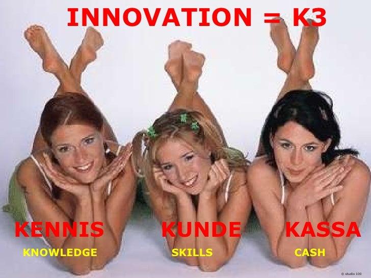 INNOVATION = K3KENNIS      KUNDE                            KASSAKNOWLEDGE     SKILLS                         CASH        ...