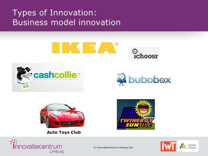 Types of Innovation:Business model innovation       Auto Toys Club                        © Innovatiecentrum Limburg vzw