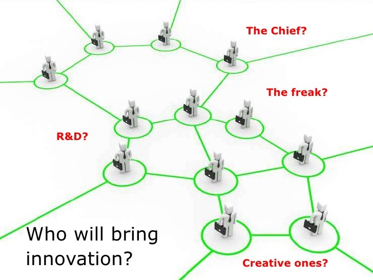 The Chief?Innovatie is …                                                     The freak?    R&D?Who will bringinnovation?  ...