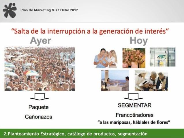 Plan de Marketing VisitElche 20122.Planteamiento Estratégico, portfolio de productos, segmentación