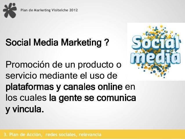 Plan de Marketing Visitelche 20123. Plan de Acción, redes sociales, cm disponibilidad