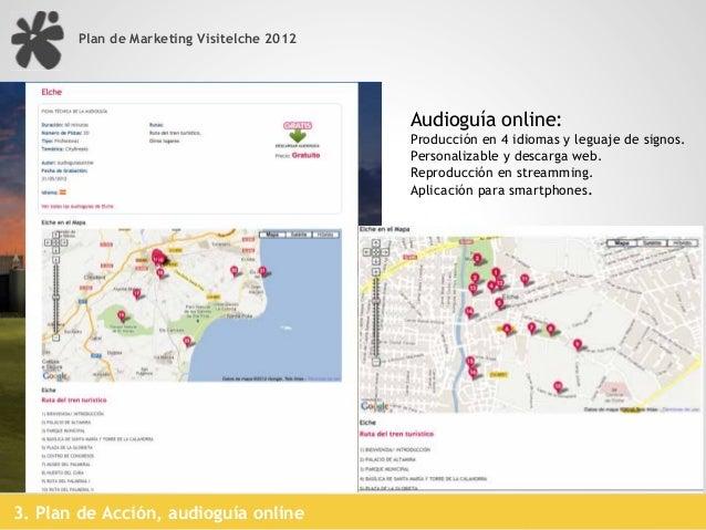 Plan de Marketing Visitelche 20123. Plan de Acción, blog trip #visitelche presentación de destino2.Planteamiento Estratégi...