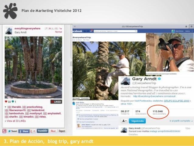Plan de Marketing Visitelche 2012   Alrededor de 100 incripciones con una media de 1.000 followers en twitter   Ponentes c...