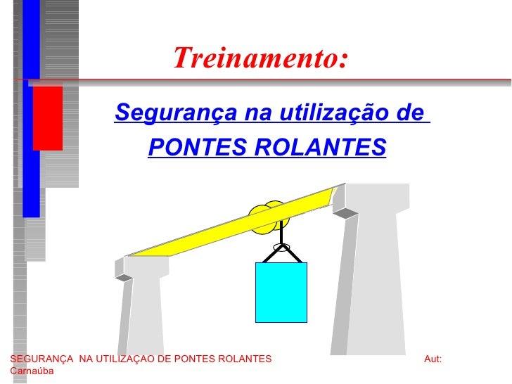 Treinamento: <ul><li>Segurança na utilização de  </li></ul><ul><li>PONTES ROLANTES </li></ul>
