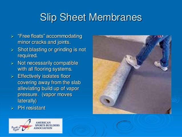 Slip Sheet Membrane : Pontevedra d johnson