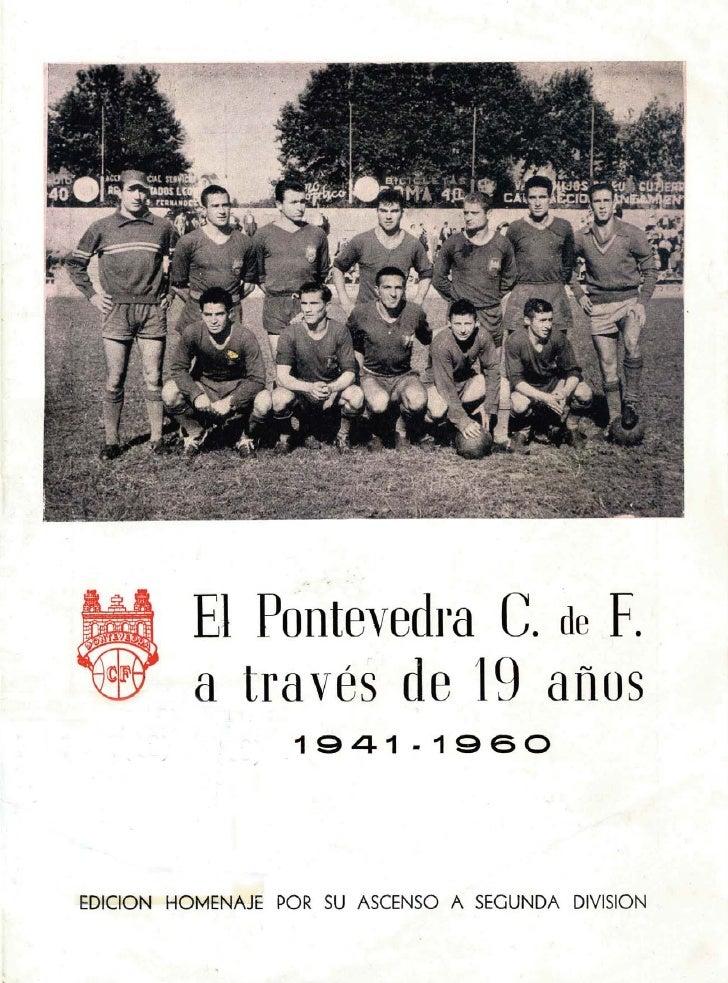 "Pontevedra CF. Ascenso a ""Segunda"""