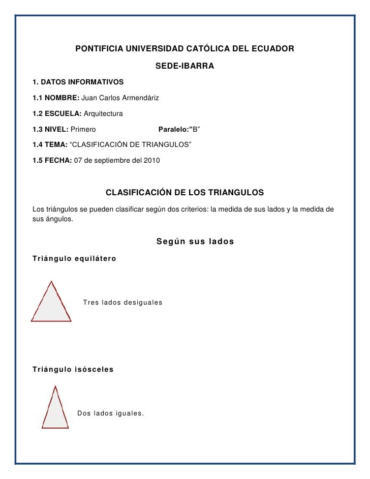 PONTIFICIA UNIVERSIDAD CATÓLICA DEL ECUADOR<br />SEDE-IBARRA<br />1. DATOS INFORMATIVOS<br />1.1 NOMBRE: Juan Carlos Armen...