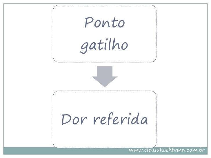 Ponto   gatilho     Dor referida             www.cleusakochhann.com.br