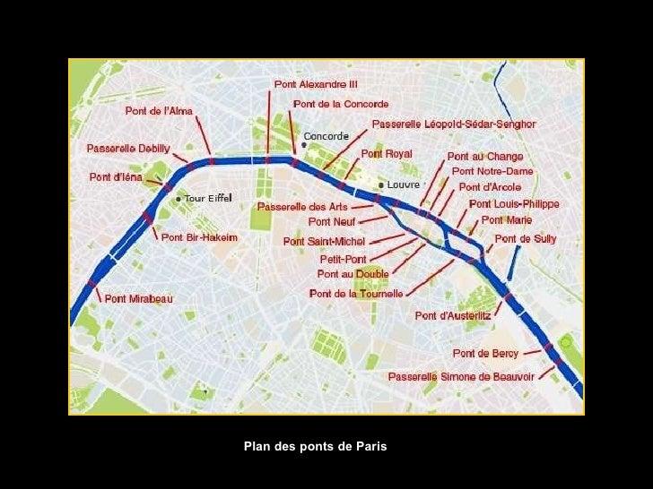 Plan des ponts de Paris