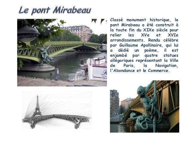 Commandé par Napoléon, le pontdIéna fait face à lEcole Militaire.Construit entre 1808 et 1814, il aété élargi à loccasion ...
