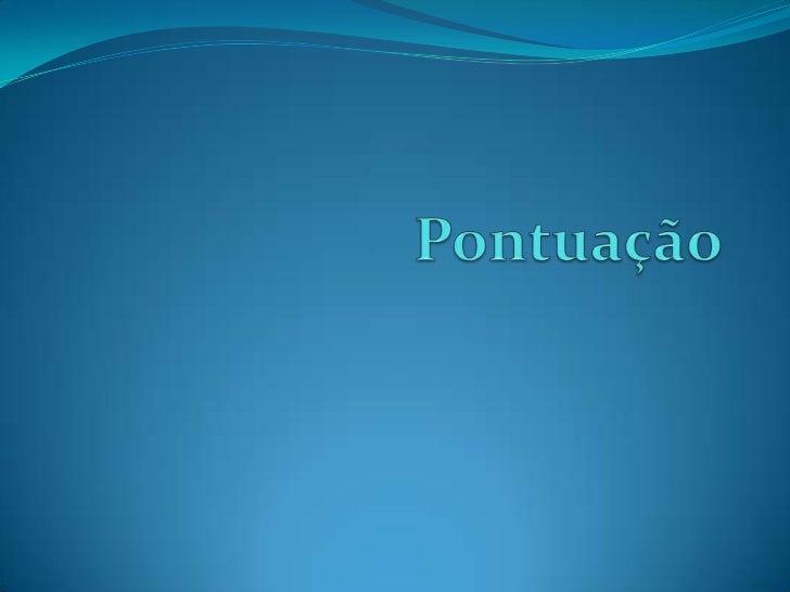 Pontuação<br />