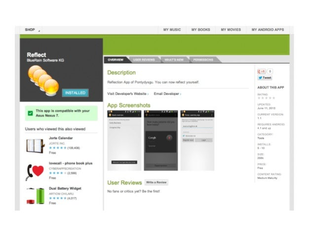 Reflect - a mobile App for learning Slide 3