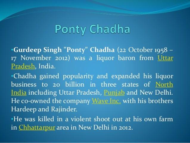 ponty chadha business plan