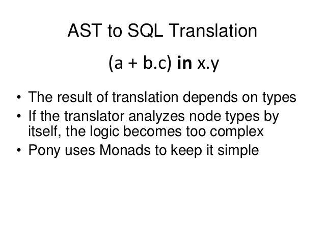 How Pony ORM translates Python generators to SQL queries