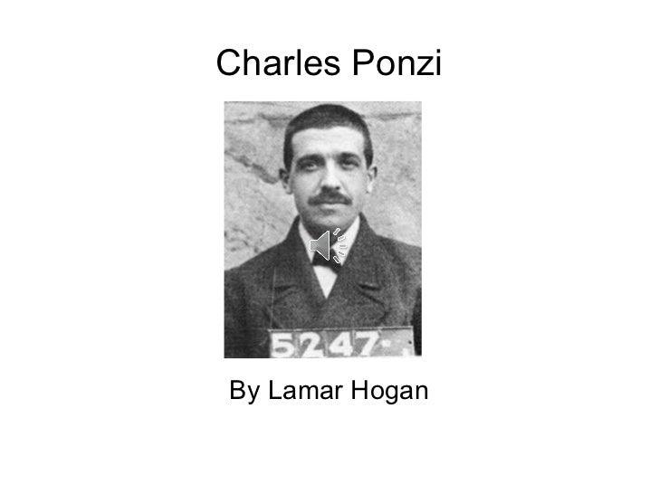 Charles Ponzi By Lamar Hogan