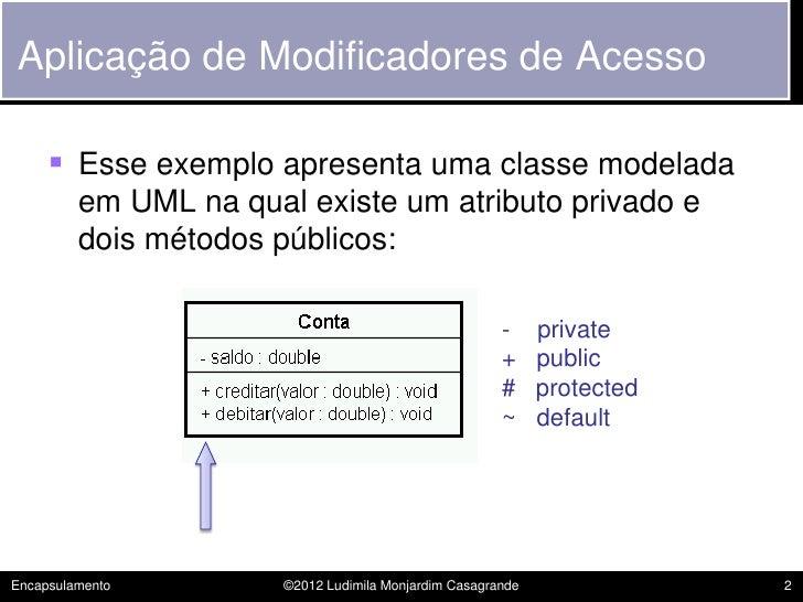 POO - 06 - Encapsulamento Slide 2