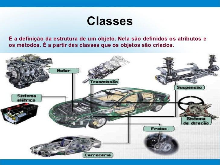 ClassesÉ a definição da estrutura de um objeto. Nela são definidos os atributos eos métodos. É a partir das classes que os...