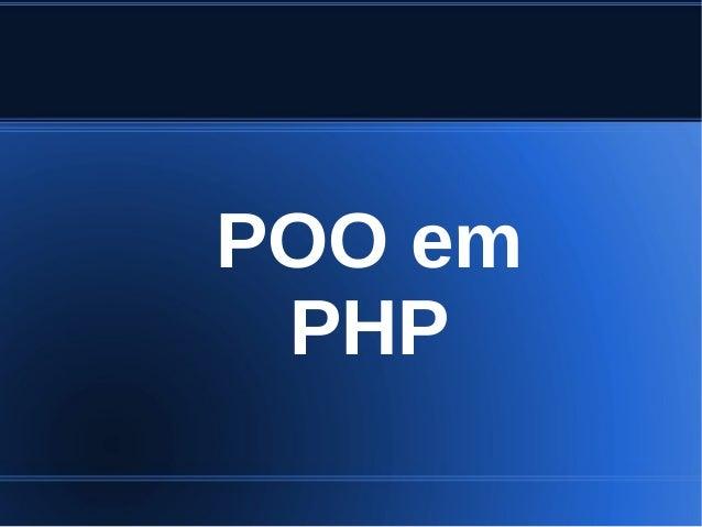 POO em PHP
