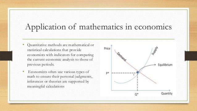 application of mathematics in business and economics
