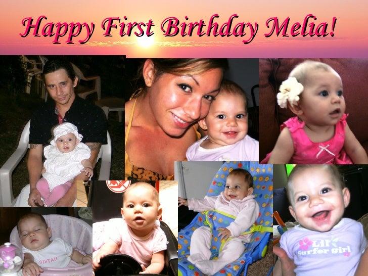 Happy First Birthday Melia!