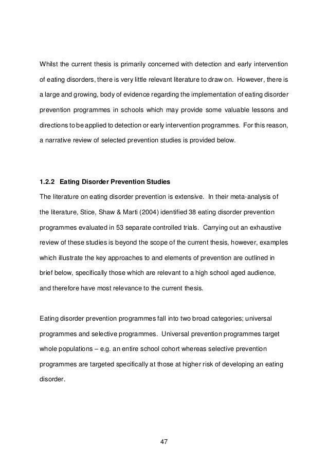 eating disorder thesis