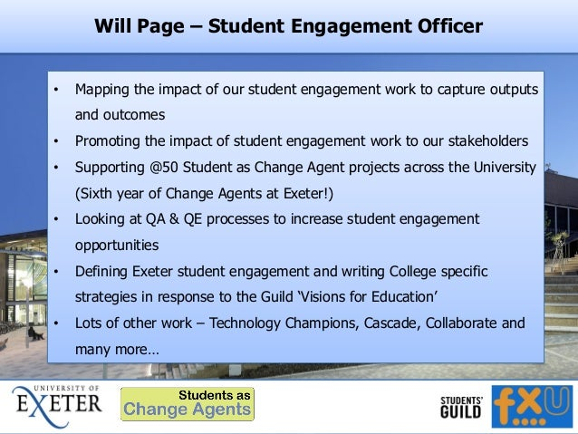 Will Page – Student Engagement Officer • Mapping the impact of our student engagement work to capture outputs and outcomes...
