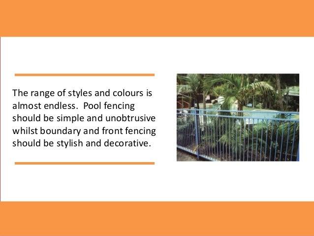 Pool fencing Slide 2