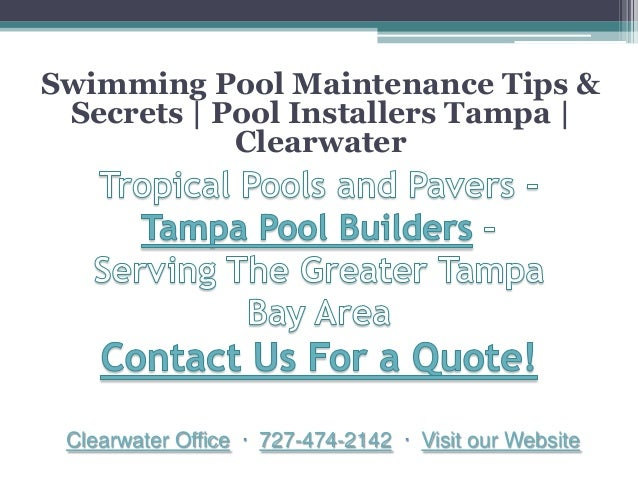 Swimming Pool Maintenance Tips Secrets