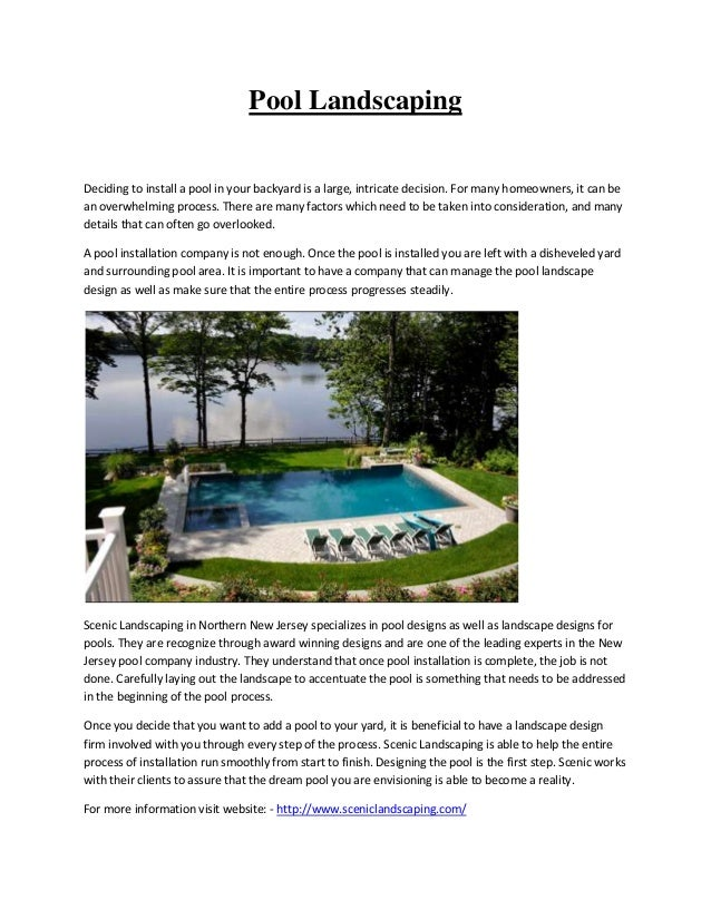 Pool LandscapingDeciding to install a pool in your backyard is a large, intricate decision. For many homeowners, it can be...