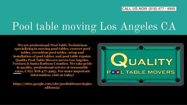 Pool Table Moving Los Angeles Ca - Professional pool table movers