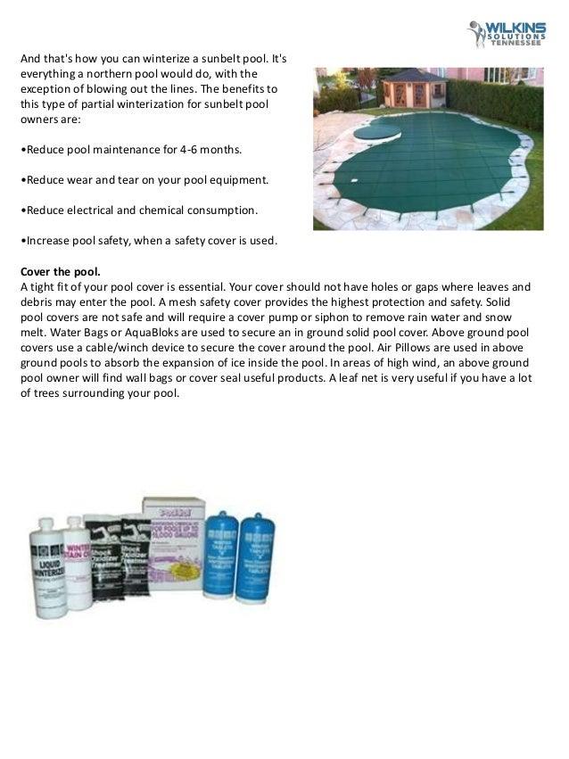 Pool Winterizing Chemical Tips