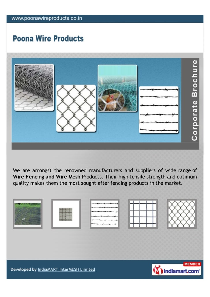 Poona Wire Products, Pune, Wire Products