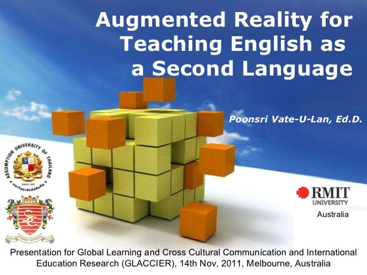 Free Powerpoint Templates Augmented Reality for Teaching English as  a Second Language Presentation for Global Learning an...