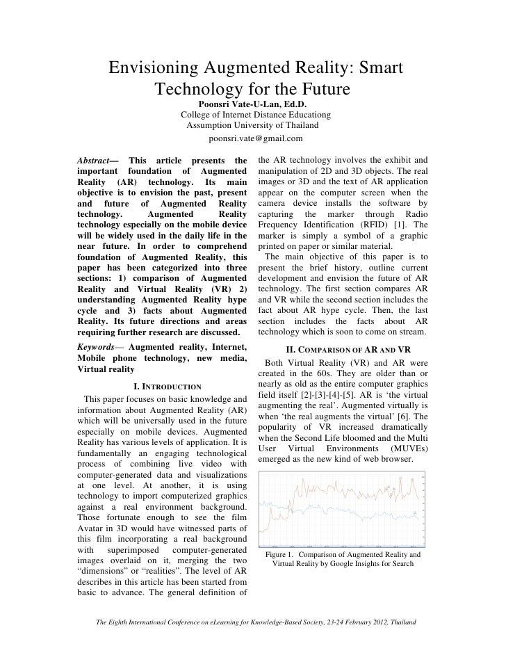 Envisioning Augmented Reality: Smart               Technology for the Future                                     Poonsri V...