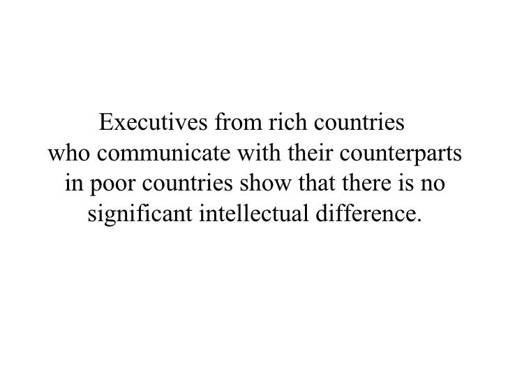 Poor Countries Vs Rich Countries - Rich and poor countries