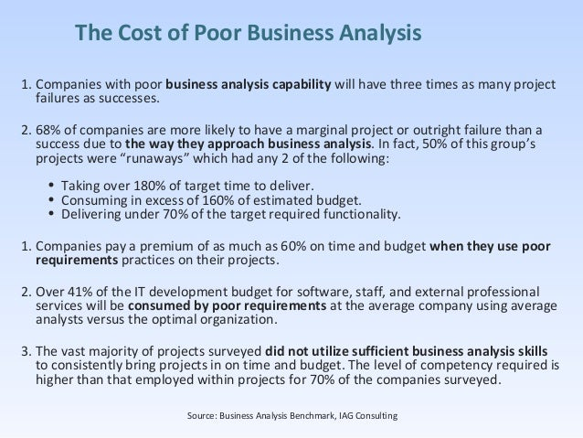 analysis on big it project failure Gartner survey shows why projects fail analyst : lars mieritz this will also enable the use of regular program oversight reviews to ensure that the big picture is maintained and to rapidly reassess and recalibrate should any of the individual efforts get off track 3.