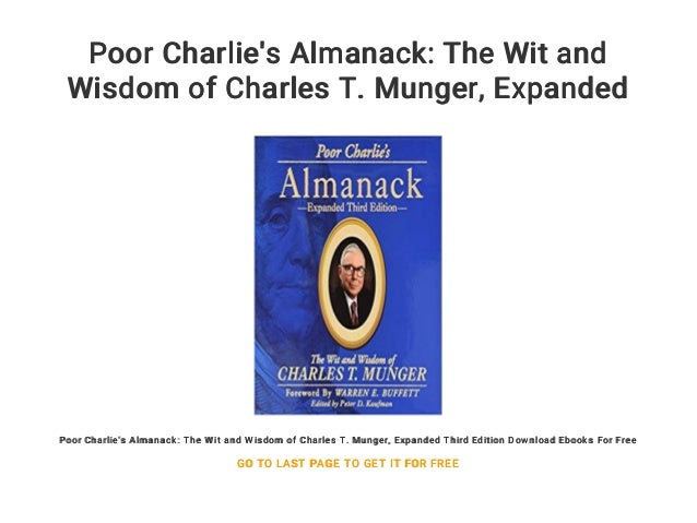 Poor Charlies Almanack Ebook
