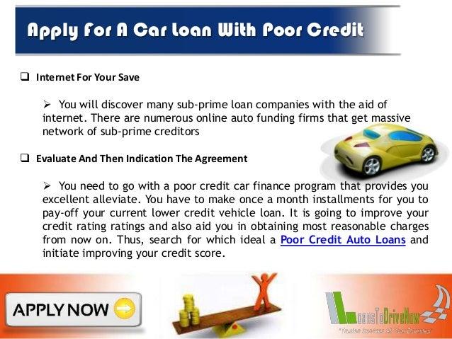 Poor Credit Car Finance Companies