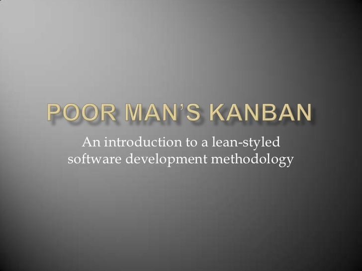 An introduction to a lean-styledsoftware development methodology