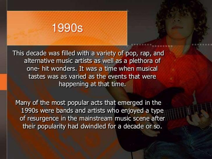 Popular Music 1950s- 1990s