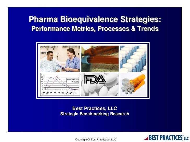 Pharma Bioequivalence Strategies:Performance Metrics, Processes & Trends             Best Practices, LLC        Strategic ...