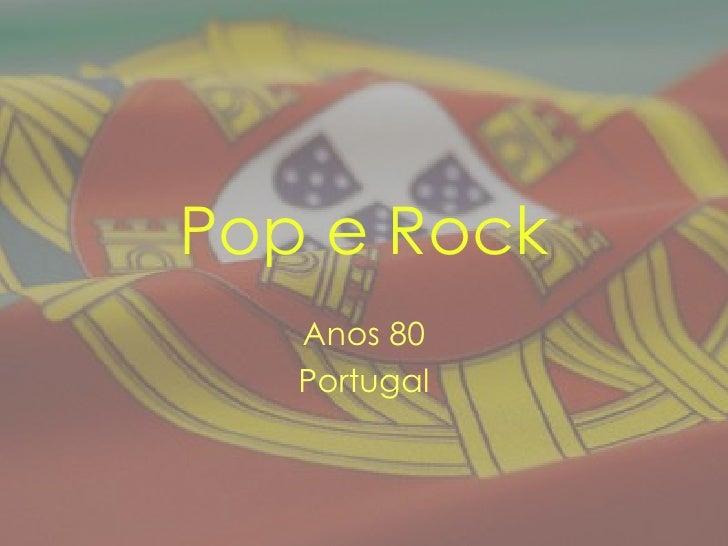 Pop e Rock Anos 80 Portugal